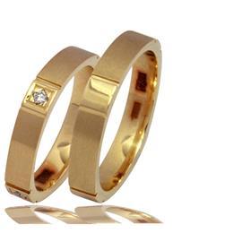 """Обручальные кольца парные с бриллиантами серии """"Twin Set"""", артикул R-ТС К007"""