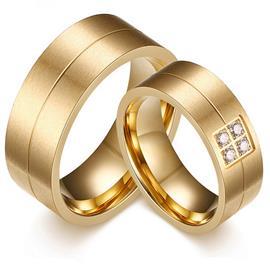 Обручальные кольца парные с бриллиантами из золота 585 пробы, артикул R-ТС AL2312-1