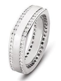 Обручальные кольца с бриллиантами в 1,5 карат из золота 585 пробы, артикул R-1900