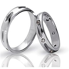 Стильные обручальные кольца парные, артикул R-ТС 3139