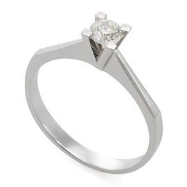 Помолвочное кольцо с 1 бриллиантом 0,30 ct 4/5 белое золото 585°, артикул R-RO52468