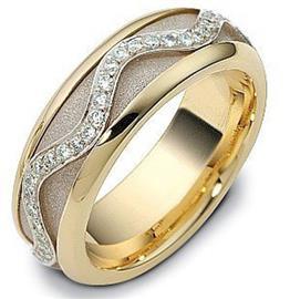 """Обручальное кольцо из золота 585 пробы с бриллиантами, серия """"Diamond"""", артикул R-2091"""