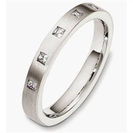 Обручальное кольцо с бриллиантами из золота 585 пробы, артикул R-3834-2
