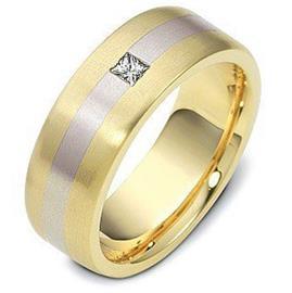 Обручальное кольцо из золота 585 пробы с бриллиантом, артикул R-1771