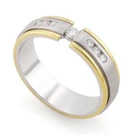 Обручальное кольцо  с 7 бриллиантами 0,13 карат, артикул R-С1577