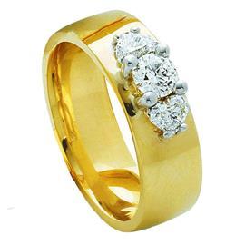 Обручальное кольцо из желтого и белого золота 585 пробы, артикул R-3290