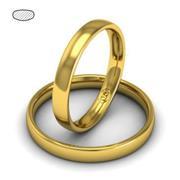 Обручальное кольцо классическое из желтого золота, ширина 3 мм, комфортная посадка, артикул R-W435Y