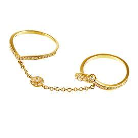 Кольцо с 378 бриллиантами 0,46 ct 3/5 из жёлтого золота 585°, артикул R-27800011434П