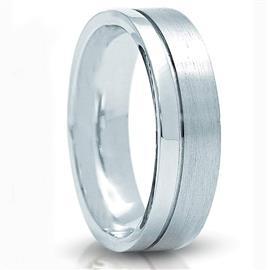Обручальное кольцо из белого золота 585 пробы, артикул R-3266-2м