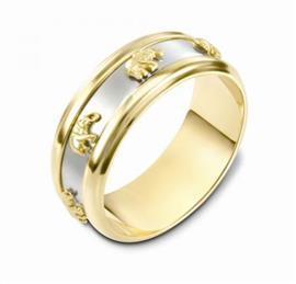 Кольцо обручальное крутящееся эксклюзивное  из золота 585 пробы, артикул R-L1181