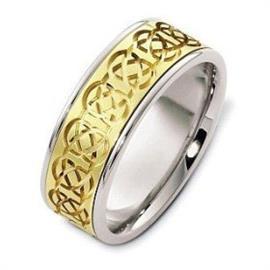 Эксклюзивное обручальное кольцо из золота 585 пробы, артикул R-025231/001