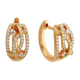 Серьги с 92 бриллиантами 0,36 ct 4/5 из розового золота 750°, артикул R-ME006380