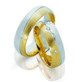 """Обручальные кольца парные из золота 585 пробы с бриллиантами  серия """"Twin set"""", артикул R-ТС 3268_2/001"""