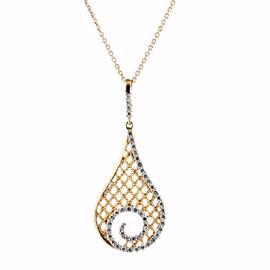 Колье с 47 бриллиантами 0,64 ct 3/4 из белого и розового золота 750°, артикул R-DNK04635-02