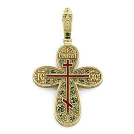 Крест православный с надписями Иисус Христос, Царь Славы, молитва за Отечество, артикул R-РКк1601-1
