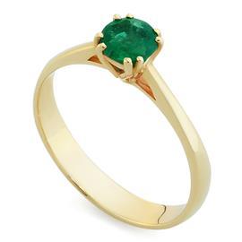 Кольцо с 1 изумрудом 0,44 ct 3/3 из желтого золота 585°, артикул R-ЯК049И-1