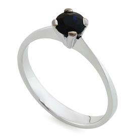 Кольцо с 1 сапфиром 0,72 ct 3/3 из белого золота 750°, артикул R-RO52468C-2