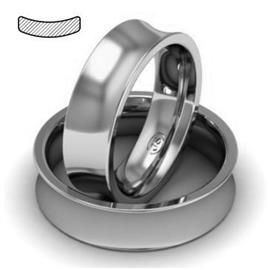 Обручальное кольцо из платины, ширина 6 мм, комфортная посадка, артикул R-W869Pt