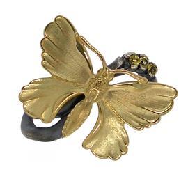 Кольцо бабочка серебро 925°, артикул R-139399