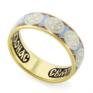 Венчальное кольцо с молитвой к святому Николаю Чудотворцу, арт. R-КЗЭ0801