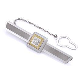 Зажим для галстука из белого и желтого золота 585°, артикул R-651-828