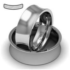 Обручальное кольцо из платины, ширина 7 мм, комфортная посадка, артикул R-W879Pt