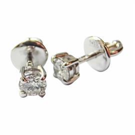 Серьги-пусеты с 2 бриллиантами 0,48 ct 4/5 из розового и белого золота  585°, артикул R-ИВ-002