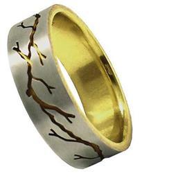 Кольцо обручальное эксклюзивное из золота 585 пробы, артикул R-20431/100001