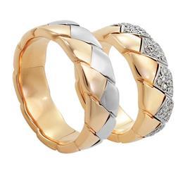 Обручальные кольца с бриллиантами, артикул R-тс 2258-3