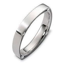 """Обручальное кольцо с бриллиантами серии """"Diamond"""" из золота 585 пробы, артикул R-2450"""