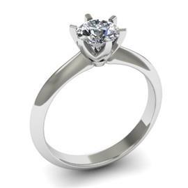 Помолвочное кольцо с 1 бриллиантом 0,51 ct 3/8  из белого золота 585°, артикул R-D37969-2