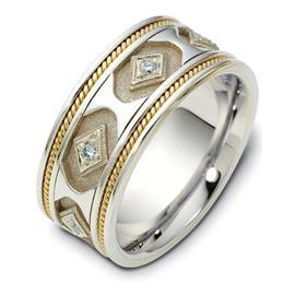 Обручальное кольцо с круглыми бриллиантами из золота 585 пробы, артикул R-2228