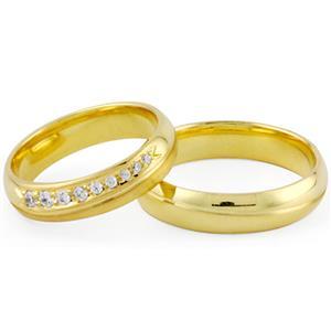 Обручальные кольца парные с бриллиантами из золота, арт. R-ТС 3394