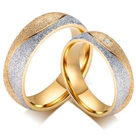 Обручальные кольца парные с бриллиантами из золота 585 пробы, артикул R-ТС AL2323-12