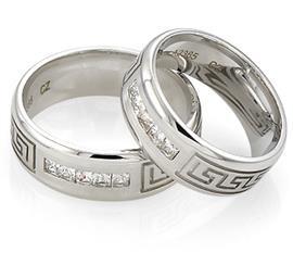 Обручальные кольца с бриллиантами из золота 585 пробы, артикул R-А2365