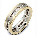 Обручальное кольцо с бриллиантами, артикул R-2061