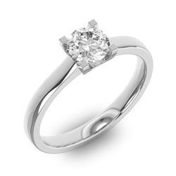 Помолвочное кольцо 1 бриллиантом 0,65 ct 4/5 из белого золота 585°, артикул R-D37664-2