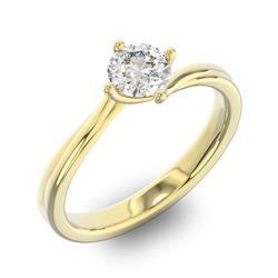 Помолвочное кольцо 1 бриллиантом 0,50 ct 4/5 из желтого золота 585°, артикул R-D36640-1