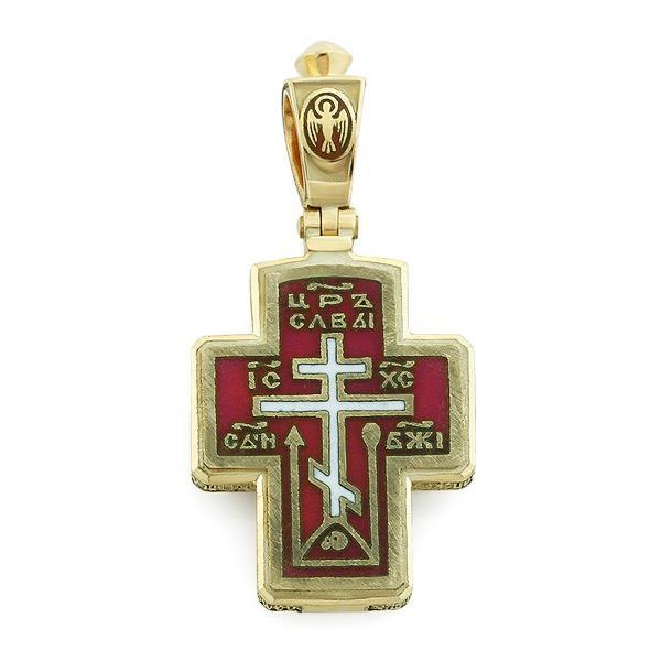 Крест православный с надписями Иисус Христос, Царь Славы, Спаси и сохрани, артикул R-РКо1608-1
