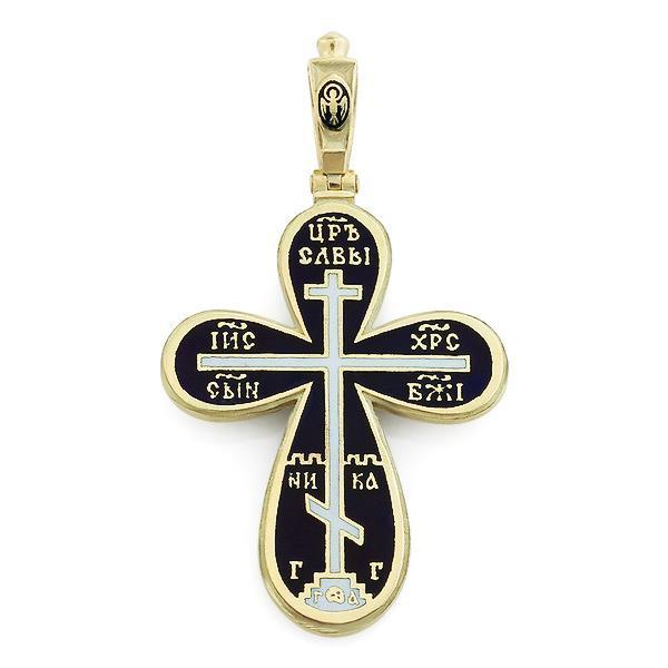 Крест православный с надписями Иисус Христос, Царь Славы, Спаси и сохрани, артикул R-РК1606-1