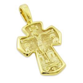 Нательный православный крест, артикул R-КРЗ009-1