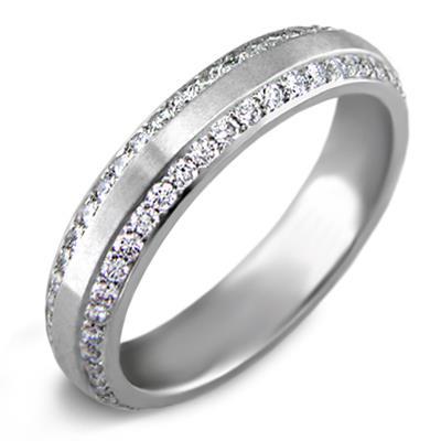 2ff205c9c134 Обручальное кольцо из белого золота 750 пробы с бриллиантами, артикул R-6016