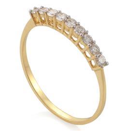 Кольцо с 9 бриллиантами 0,27  ct 4/5  из желтого золота, артикул R-ALY01285-01