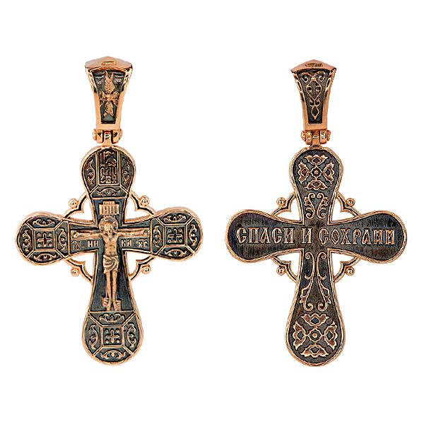 Православный крест Распятие Христово, артикул R-КС1-3060-3