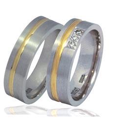 """Обручальные кольца парные с бриллиантами серии """"Twin Set"""", артикул R-ТС К001"""