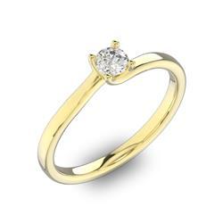 Помолвочное кольцо 1 бриллиантом 0,3 ct 4/5 из желтого золота 585°, артикул R-D40880-1