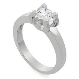 Помолвочное кольцо в стиле Cartier с 1 бриллиантом 0,20 ct 4/6 белое золото 585° , артикул R-LK007-2