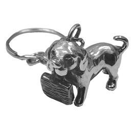 Брелок Собачка из серебра 925°, артикул R-110261