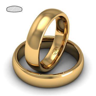 Обручальное кольцо из розового золота, ширина 5 мм, комфортная посадка, артикул R-W555R