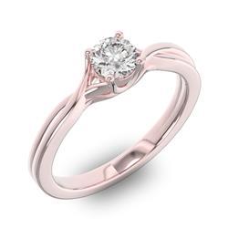 Помолвочное кольцо 1 бриллиантом 0,5 ct 4/5 из розового золота 585°, артикул R-D42832-3